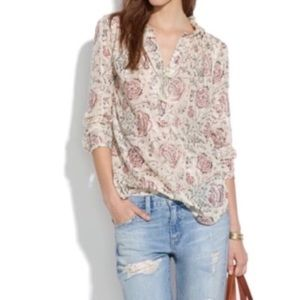 Madewell Shirred Popover Turkish Garden Floral
